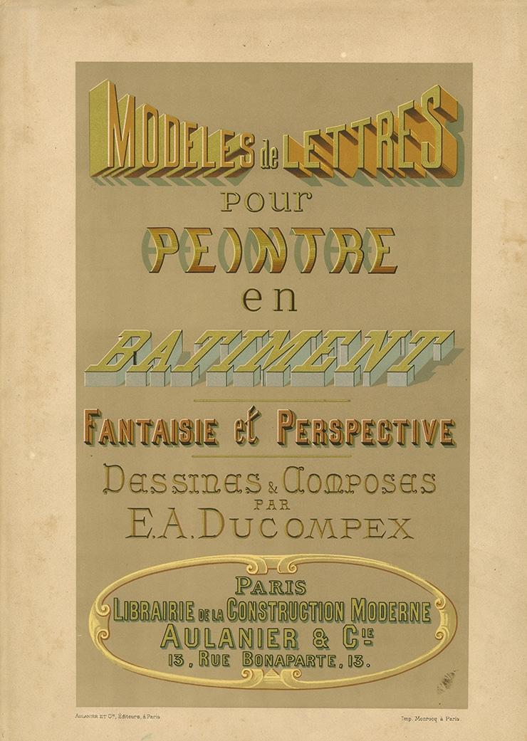 Fonds ancien isdaT : Ducompex, Lettres en bâtiment, 1885