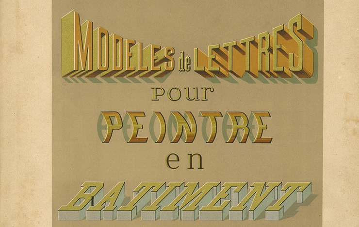Ducompex, Etienne Anatole, <i>Modèles de lettres pour peintre en bâtiment…</i>, Aulanier, libr. de la Construction moderne, Paris [ca1885]. Coll. isdaT.