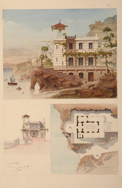 Fonds d'oeuvres isdaT : aquarelle, Esquié, 1875