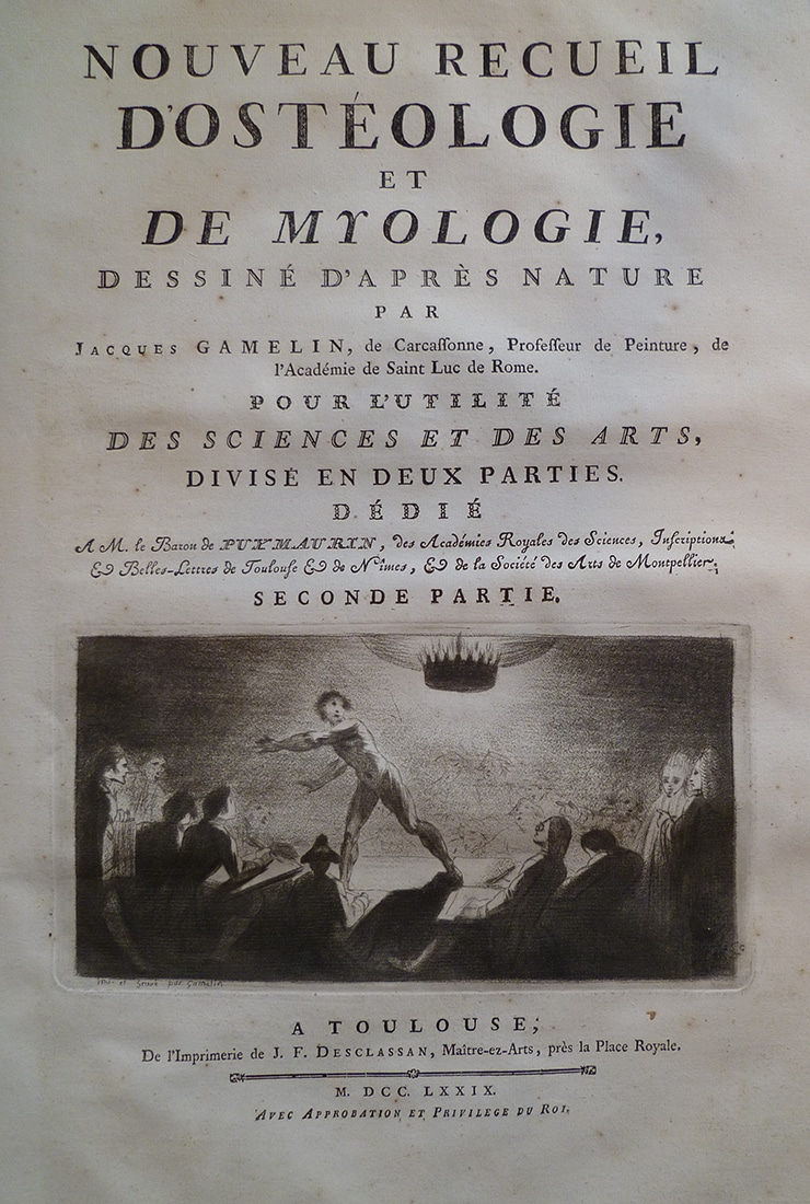 Fonds ancien isdaT : Gamelin, Ostéologie et myologie, 1779
