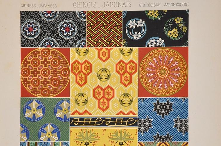 Racinet, Albert, <i>L'Ornement polychrome : cent planches en couleurs, or et argent...</i>, Firmin Didot, Paris, [1869]. Coll. isdaT.