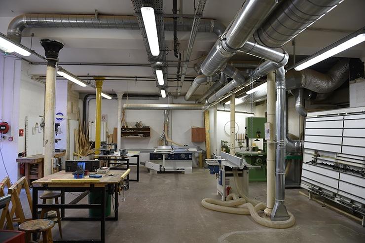 Atelier menuiserie, isdaT, 2014, photo Jean-Christian Tirat
