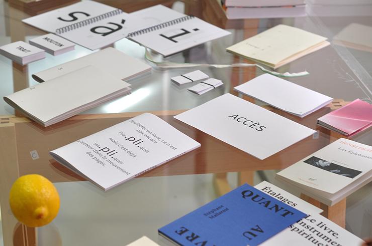LabBooks, bibliothèque de travail, dans le cadre de VISION, exposition au Palais de Tokyo du 13 au 18 avril 2016