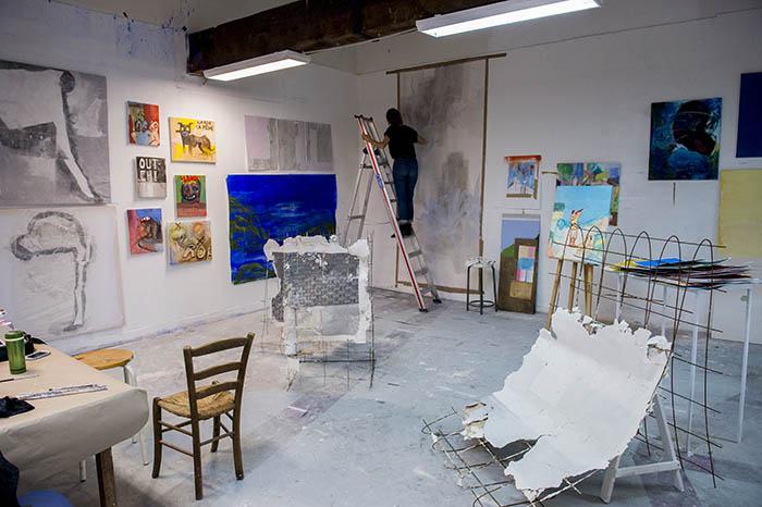 Atelier peinture, isdaT © Franck Alix