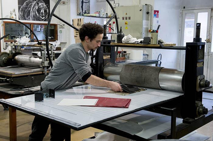 Atelier gravure, isdaT © Franck Alix