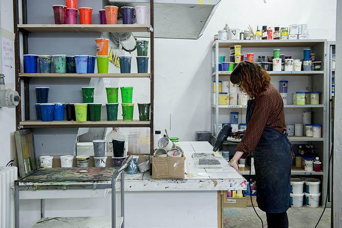 Atelier sérigraphie, isdaT © Franck Alix