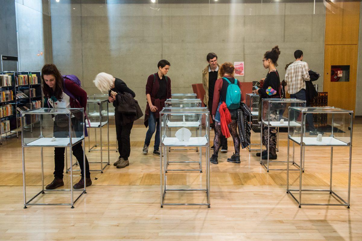 Vernissage de l'exposition Pièce Montée à la Médiathèque José Cabanis © Franck Alix