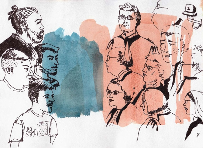 Nuit du droit, Dessins d'audiences, Toulouse, isdaT