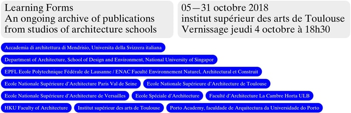 Exposition Learning Forms, ENSA Toulouse, isdaT
