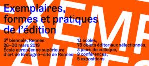 Biennale Exemplaires 2019