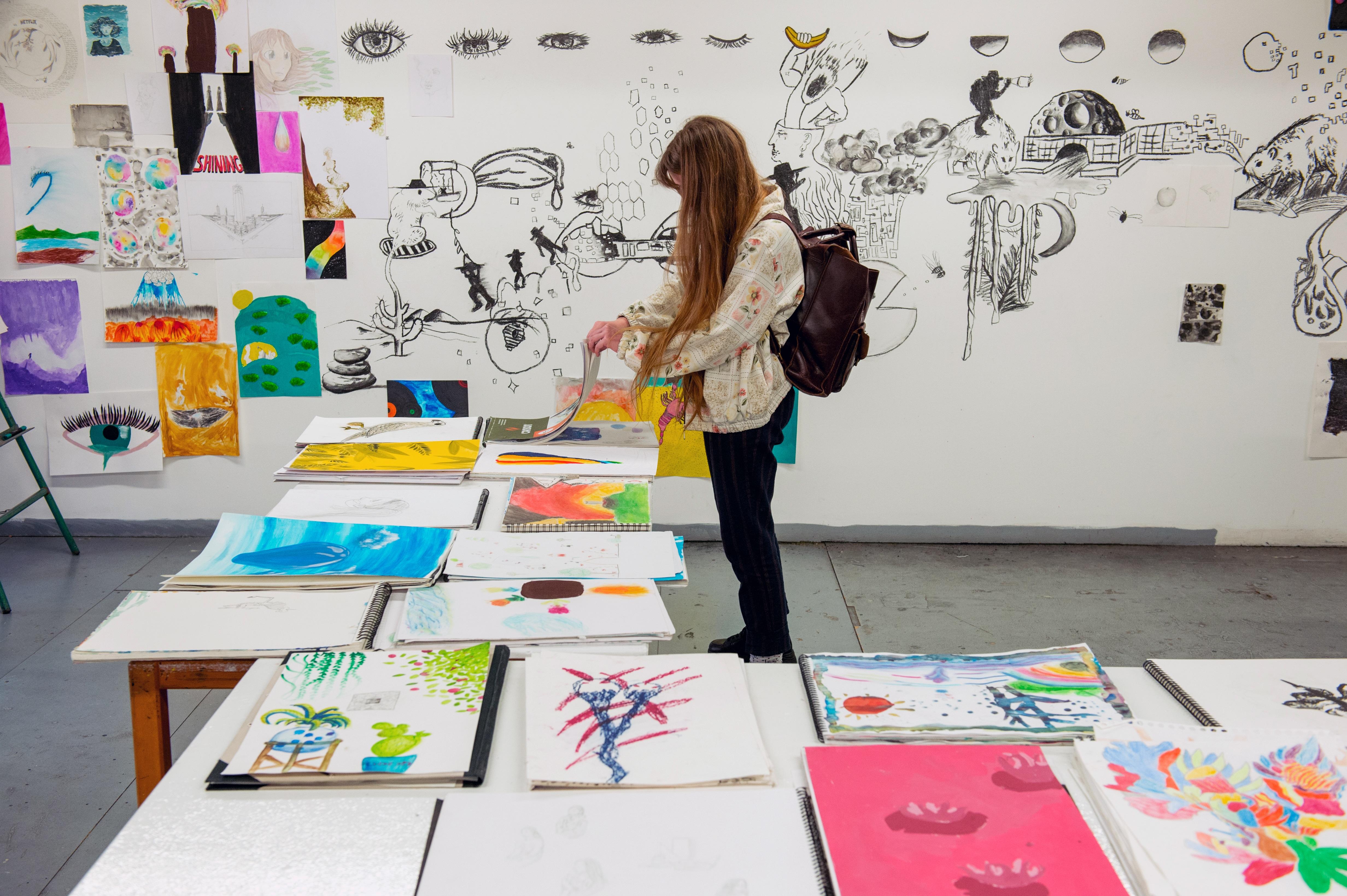 Cours enfants et adolescents, Journées Portes Ouvertes de l'isdaT, février 2019. Photographie © Franck Alix