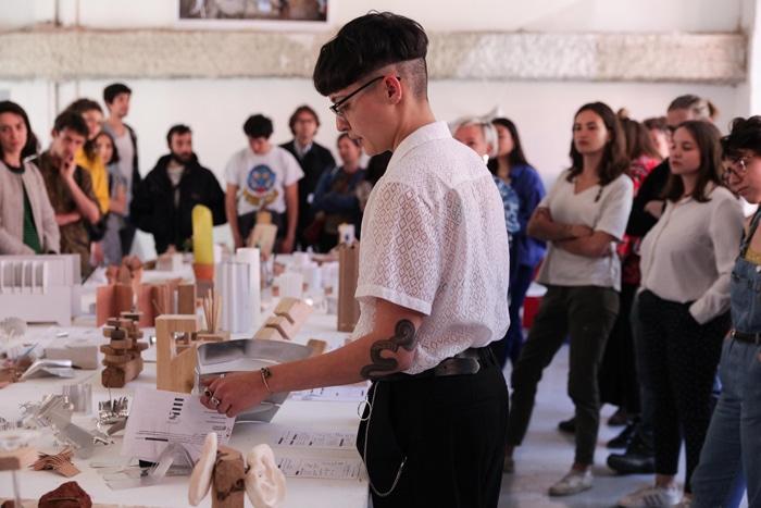 Le plein & le vide, workshop design avec Franck Fontana et les étudiants en année 1 à l'isdaT, mars 2019