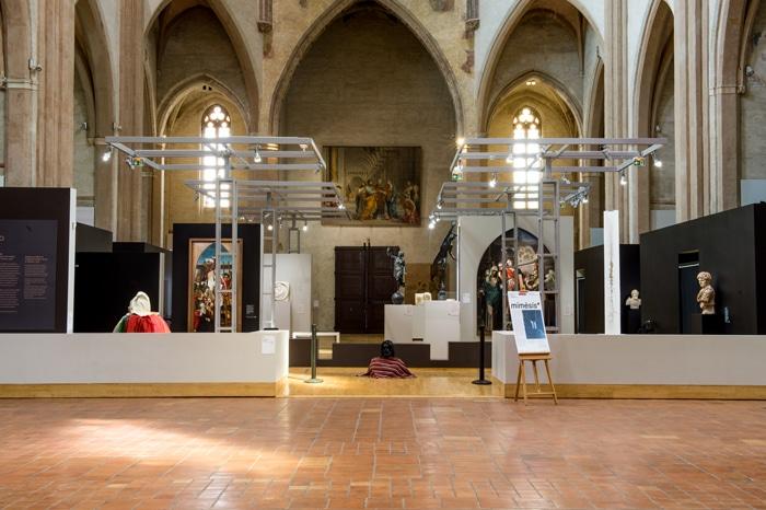 Exposition mimèsis* avec les étudiants de l'isdaT en année 3 option art © Franck Alix, avril 2019, musée des Augustins