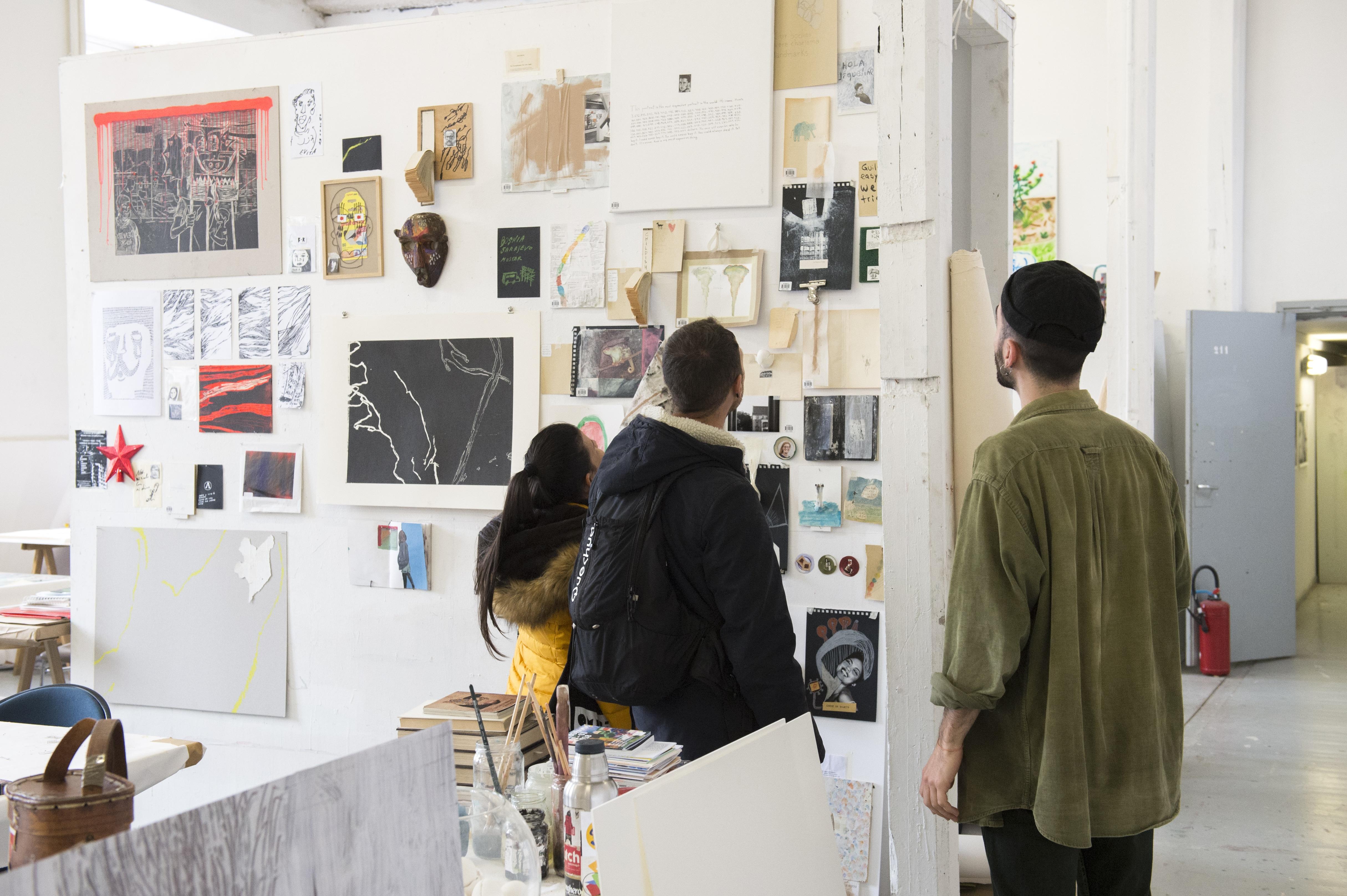 Journées Portes Ouvertes de l'isdaT, installation de l'option art, février 2020 © Franck Alix