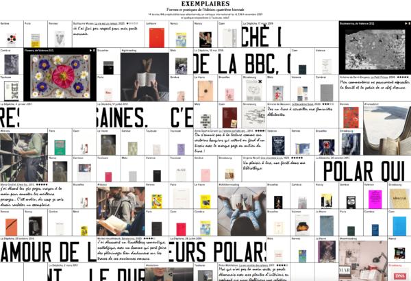 Biennale «Exemplaires 2021 — Formes et pratiques de l'édition»